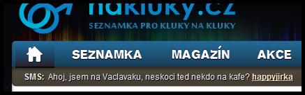 SMS lišta - nakluky.cz